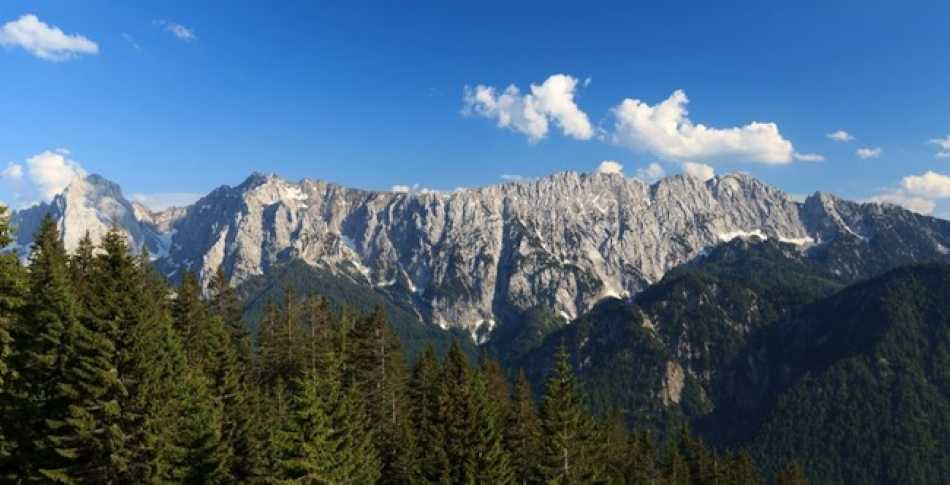 This is the Kaisergebirge in the Austrian Alps near Kitzbuhel